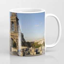 Panoramic image of the Eiffel Tower Paris France Coffee Mug