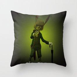 Hare o' Clock Throw Pillow