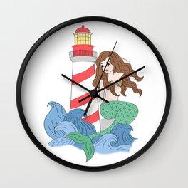 Mermaid Pin Up Girl Wall Clock