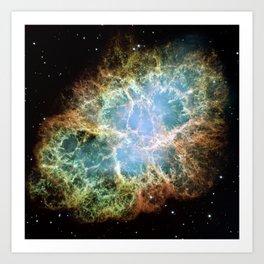 Crab Nebula Space Decor Art Print