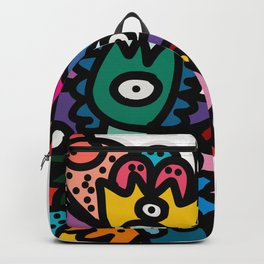 Cool Street Art Fun Multicolor Creatures Backpack