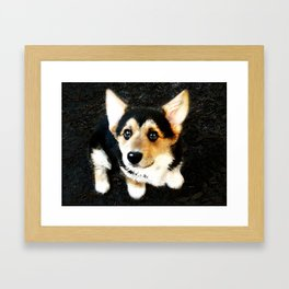 Please? Framed Art Print