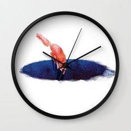 Jump into nowhere Wall Clock