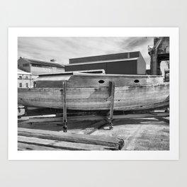 Old Wooden Boat Art Print