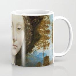 Leonardo da Vinci Ginevra de' Benci 1474 -1478 Painting Coffee Mug