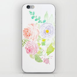 Roses and Peony iPhone Skin