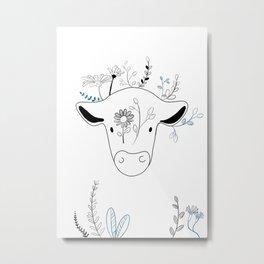 Karma Cow Metal Print