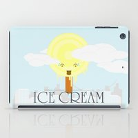 ice cream iPad Cases featuring Ice Cream by Oblivion Creative