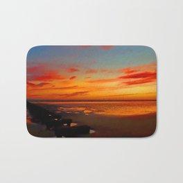 Crosby Beach at Sunset Bath Mat