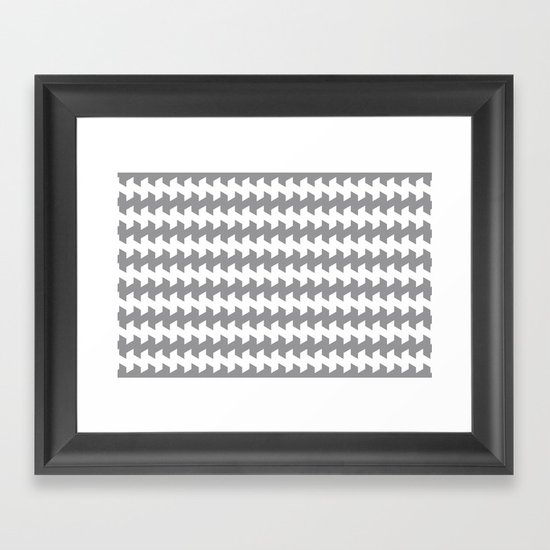 jaggered and staggered in alloy Framed Art Print