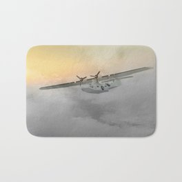 """Flying boat"" Bath Mat"