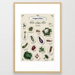 Vegetables cooking time Framed Art Print