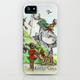 Little Witch Vacation iPhone Case