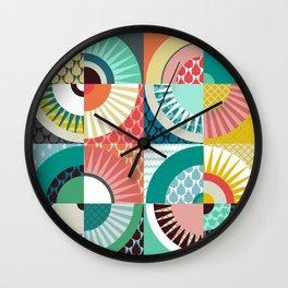 llama geo squares Wall Clock