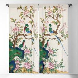 Minhwa: Birds and Royal azalea (Korean traditional/folk art) Blackout Curtain