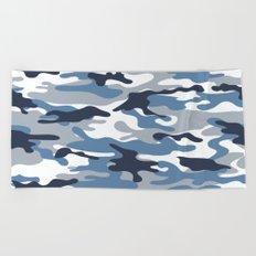 Blue and White Camo Beach Towel
