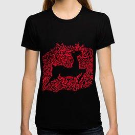 Reindeer Christmas Gift Sledge Funny T-shirt