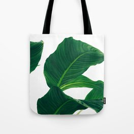 Green Leafs (Color) Tote Bag