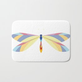 Colorful Dragonfly Bath Mat
