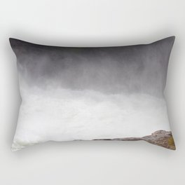 Mist Rising From the Rapids, Churning Water, Fast Moving River Rectangular Pillow