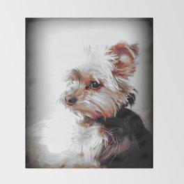 Yorkie | Dog | Dogs | Bad Day eh? | Nadia Bonello Throw Blanket
