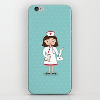nurse iPhone & iPod Skins featuring Nurse by Manuela Rocha