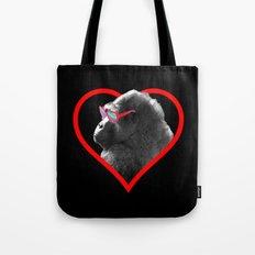 Gorilla heart Tote Bag