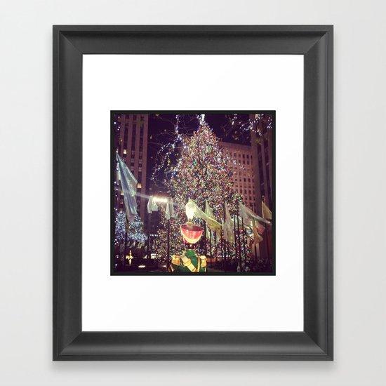 Christmas in the City Framed Art Print
