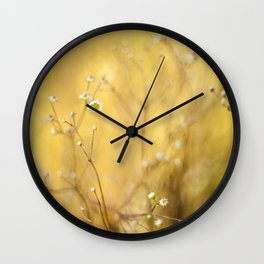 Little summer daises Wall Clock