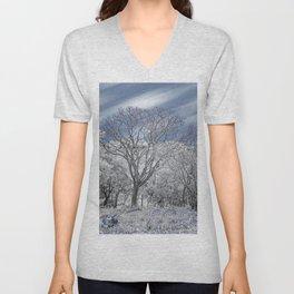 Winter Tree Unisex V-Neck