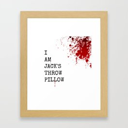 Jack's Throw Pillow Blood Framed Art Print