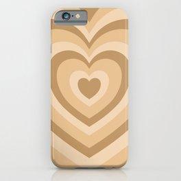 Beige Hearts iPhone Case