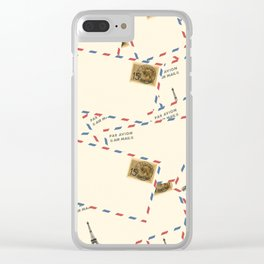 Paris Envelopes Clear iPhone Case