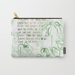 """""""Conquest of the Useless"""" by Werner Herzog Print (v. 3) Carry-All Pouch"""