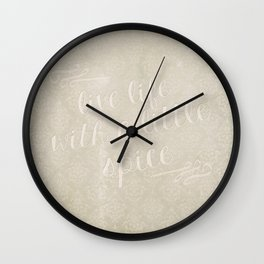 Live Life with a Little Spice Wall Clock