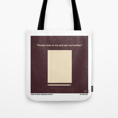 No247 My AMERICAN HISTORY X minimal movie poster Tote Bag
