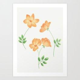 Butterscotch Roses Art Print