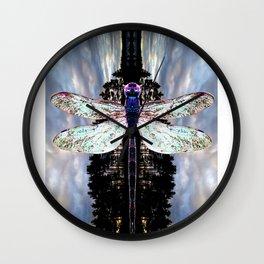 Transcending Dragonfly Wall Clock
