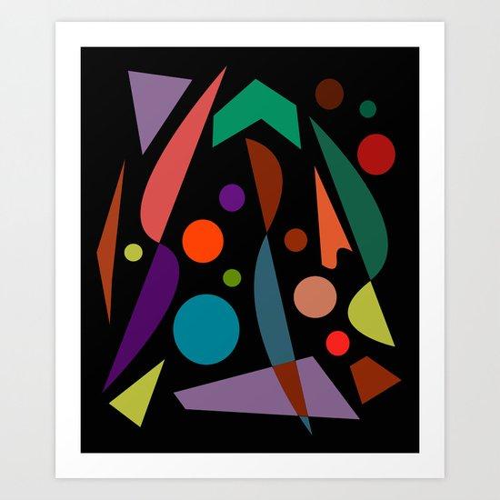 Abstract #306 String Trio Art Print