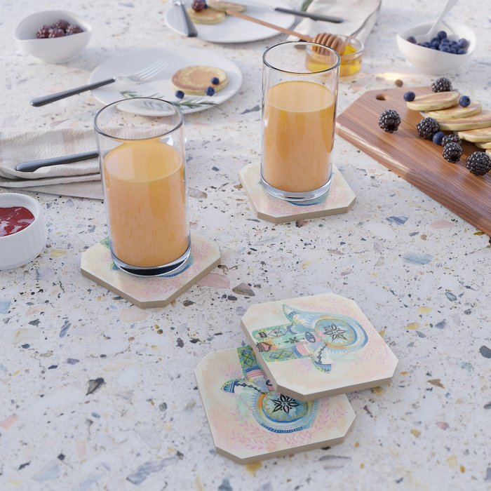 Morocco Hamsa Hand Coaster