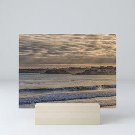 Sunbeams at Cape Hedge Beach Mini Art Print