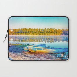 Canoes Lakeside Laptop Sleeve