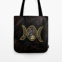 steam punk Tote Bags featuring steam punk goddess  by Shonda Robb