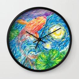 Van Gogh Koi Wall Clock