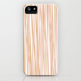 Vertical Lines in Blush and Gold iPhone Case
