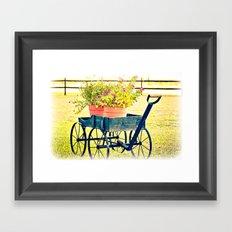 Blooming Wagon Framed Art Print