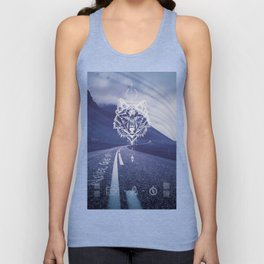 Never give up! Unisex Tank Top