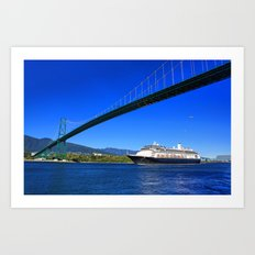 Lions Gate Bridge Art Print