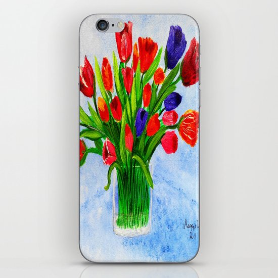 Short stem tulips iPhone & iPod Skin