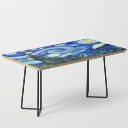 Tardis Art Starry Night Coffee Table